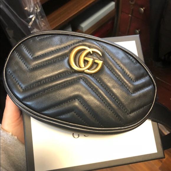 4fab74725ce Gucci Accessories - GG MARMONT BELT BAG black leather belt size 95